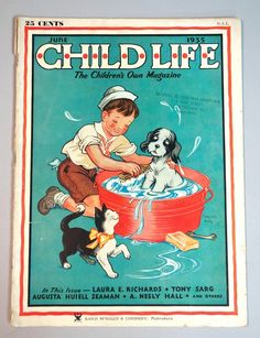 Child Life Magazine June 1935. Cover by Clarence Biers