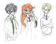 Albus, Rose, and Scorpius #harrypotter