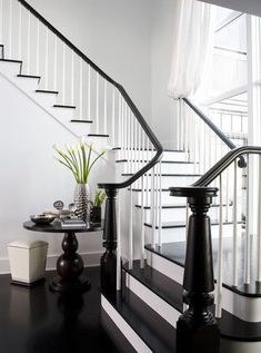 Black and white staircases - Erica Fanning Interiors