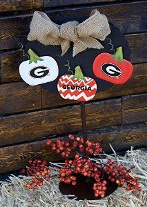 Adorable UGA pumpkin decorations for Fall.   University of Georgia Bulldogs/Bulldawgs #godawgs