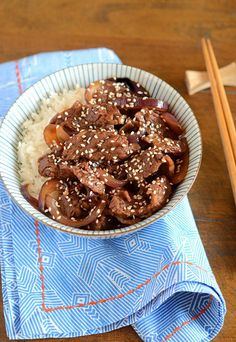 Japanese Beef and Rice Bowl