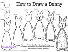 How to draw a bunny rabbit step by step