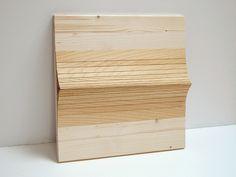 Eva Francová, Parcela 1606/1, wood, 40 x 40 x 5 cm, 2016