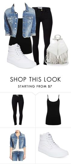 """""""Untitled #43"""" by iamaddad on Polyvore featuring Frame Denim, M&Co, True Religion, Vans and Rebecca Minkoff"""