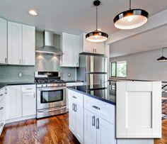 Kansas City Cabinets Shaker White :: Birch Kitchen and Bathroom Cabinets in Missouri, MO