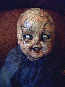 VINTAGE OOAK ALTERED ART PROP DOLL CREEPY WEIRD FREAKY HALLOWEEN HAUNTED SCARY