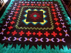 Another Southwestern quilt ---- quilted by Dee!