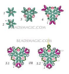 Free pattern for beaded earrings Muar U need: seed beads 8/0 seed beads 11/0 seed beads 15/0, Faceted beads 4 mm, super duo beads ~ Seed Bead Tutorials