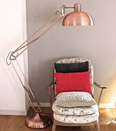 poppy angled floor lamp by the forest & co | notonthehighstreet.com