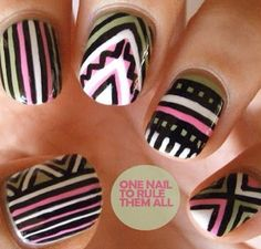 Cool pattern nails