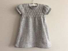 Baby Knitting Patterns Girl's Smocked Tunic and Leggings pattern by Tina Barrett Girls Knitted Dress, Knit Baby Dress, Knitted Baby Clothes, Baby Knits, Smock Dress, Baby Knitting Patterns, Knitting For Kids, Free Knitting, Knitting Baby Girl
