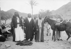 Auda Abu Tayi and his kinsmen, Yusuf Kusheiri and Bedr ibn Shefia, in their spring pastures of the Syrian Desert at Kalaat es Sebeil, on the first day of the march from Wejh to the Howeitat.
