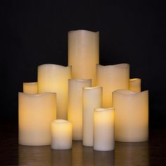 Smooth Ivory Flameless Pillar Candle, Without Timer