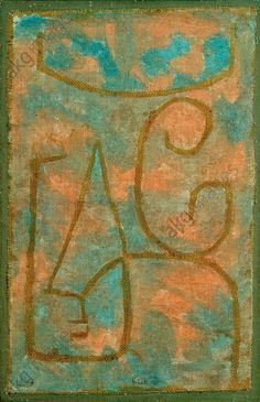 Paul Klee 'Milderung' (Alleviation) 1938 Watercolor and plaster mounted on jute and canvas  69 x 48 cm