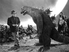 "Master of Monsters: Eiji Tsuburaya  - ""Look Bernie, I don't pay you to stand around and look coy!  You're my agent - get me a better deal!""  Godzilla"
