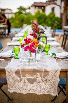 Moroccan themed wedding table