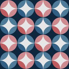Pink and Blue Vintage Circles. #purpura #cementtiles