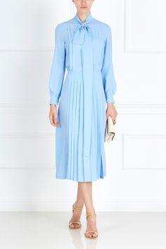 Однотонное платье No.21 - Нежно-голубое платье из коллекции бренда №21 в…