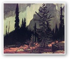 Image detail for -MacDonald - Rain, Lake O'Hara Camp Group Of Seven Artists, Group Of Seven Paintings, Tom Thomson, Canadian Painters, Canadian Artists, Landscape Art, Landscape Paintings, Landscapes, Tree Paintings