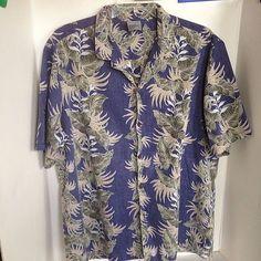 ad2d7949 Royal Creations Men's XXL Blue Hawaiian Shirt Made in Hawaii. Hawaii Outfits Mens ...