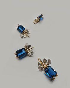 Wings. Gold and Silver pendant with London blue topas. Made by Bon Ton Joyaux, Timisoara, Romania.