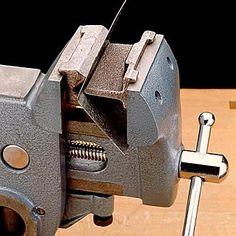 Veritas Modeler's Metal Bender converts any vise into a simple press brake