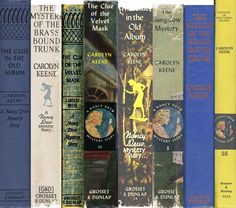 Nancy Drew Spines ~ still have a box of them ~ but not the whole collection!