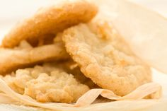 Crisp Coconut Cookies These cookies come out extra crispy, crunchy and thin...absolutely delicious!