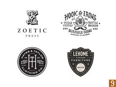I guess I'll post these and join the trend. Had 4 of these guys chosen for the new Logo Lounge Book.