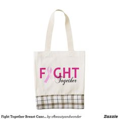 Shop Encouragement Breast Cancer Awareness Tote Bag created by ofbeautyandwonder. Best Tote Bags, Kenya Travel, Special Needs Kids, Plaid Fabric, Breast Cancer Awareness, Encouragement, Reusable Tote Bags, Pattern, Handmade