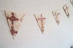Antique quile bunting ~ Pieces of Olde