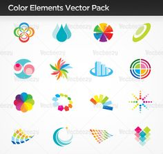 Color Elements Vector Pack
