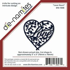 Die Namites Love Heart Die  I know its gone past valentines day but this heart is so nice for weddings, anniversaries. £8.65 RRP http://www.craftwithus.co.uk/landing.php?itemid=374