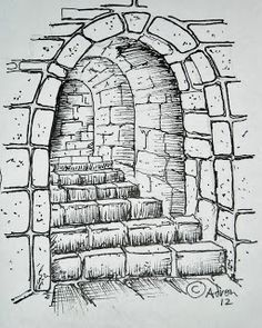 brick wall drawing | boos temple | pinterest | wall drawing