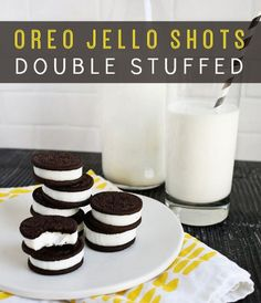 Double-Stuffed Oreo Jello Shots   Oreo Jello Shots Recipe   You will love these Oreo jello shots. Make a batch or several to serve at your next party.