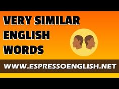 Is there any difference between these confusing English words? - YouTube