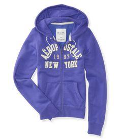 Aero New York Full-Zip Hoodie - Aeropostale
