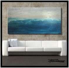 ABSTRACT PAINTING MODERN CANVAS WALL ART Large, 60x30 Signed US  ELOISExxx #Abstract