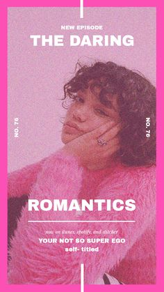 the daring romantics on Apple Podcasts Design Typography, Graphic Design Posters, Modern Graphic Design, Lettering, Graphic Design Inspiration, Branding Design, Editorial Layout, Editorial Design, Layout Design