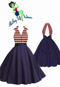 Rockabilly Backless Dress   New Design   Blueberryhillfashions.com