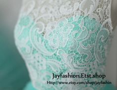 Custom+Turquoise+Lace+Tulle+Prom+Dress+Ball+Gown+by+jayfashion