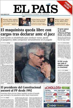 Los Titulares y Portadas de Noticias Destacadas Españolas del 29 de Julio de 2013 del Diario El País ¿Que le pareció esta Portada de este Diario Español?