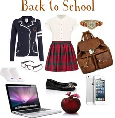 """""""Back to School"""" by ansmutiaraw ❤ liked on Polyvore"""