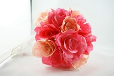 Here is a paper flower bouquet I created using coffee filters.  :)