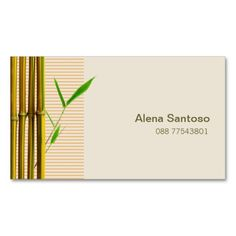 Lucky bamboo gift certificate all purpose design business cards yellow bamboo business card template colourmoves Images