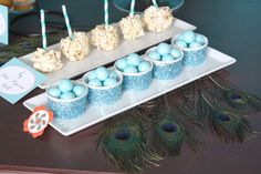 Candy and popcorn pops at a Thanksgiving party! See more party planning ideas at CatchMyParty.com!