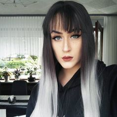 Look at this stunner @wth_mille is rocking the grey Ombre Synthetic Wigs with Bangs.Do you want try this one?wig sku:edw1018 Use Coupon Code: FL25 to get 25% Off on your order. www.everydaywigs.com #everydaywigs#bangs#wig#hairstyle#hairstyleforgirls#straightwig#ombrewig#longhair#hairstyles#lacefrontwig#beauty#frontlacewig#frontlacewigs#syntheticwigs#synthetic#beauty#instyle#2017hair