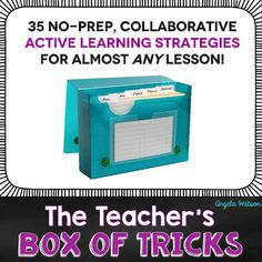 """Does lesson planning take you HOURS? Are you spending way too much time thinking up or searching out a creative, engaging way for kids to practice what they've learned? Have your students lost interest in school because you're forced to give them so many boring test prep worksheets? The solution is simple: add more engaging activities to your teaching """"box of tricks""""!"""