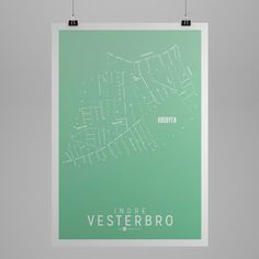 Klam - poster of Vesterbro (CPH) limited summer edition Denmark Map, Danish Design, Poster, Dining Room, Summer, Art, Pictures, Event Posters, Kunst