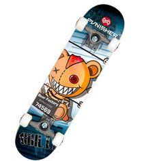 Punisher Skateboards Guilty 31.5 inch Abec-7 Complete Skateboard, Multicolor
